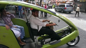 Mexico City bike taxi