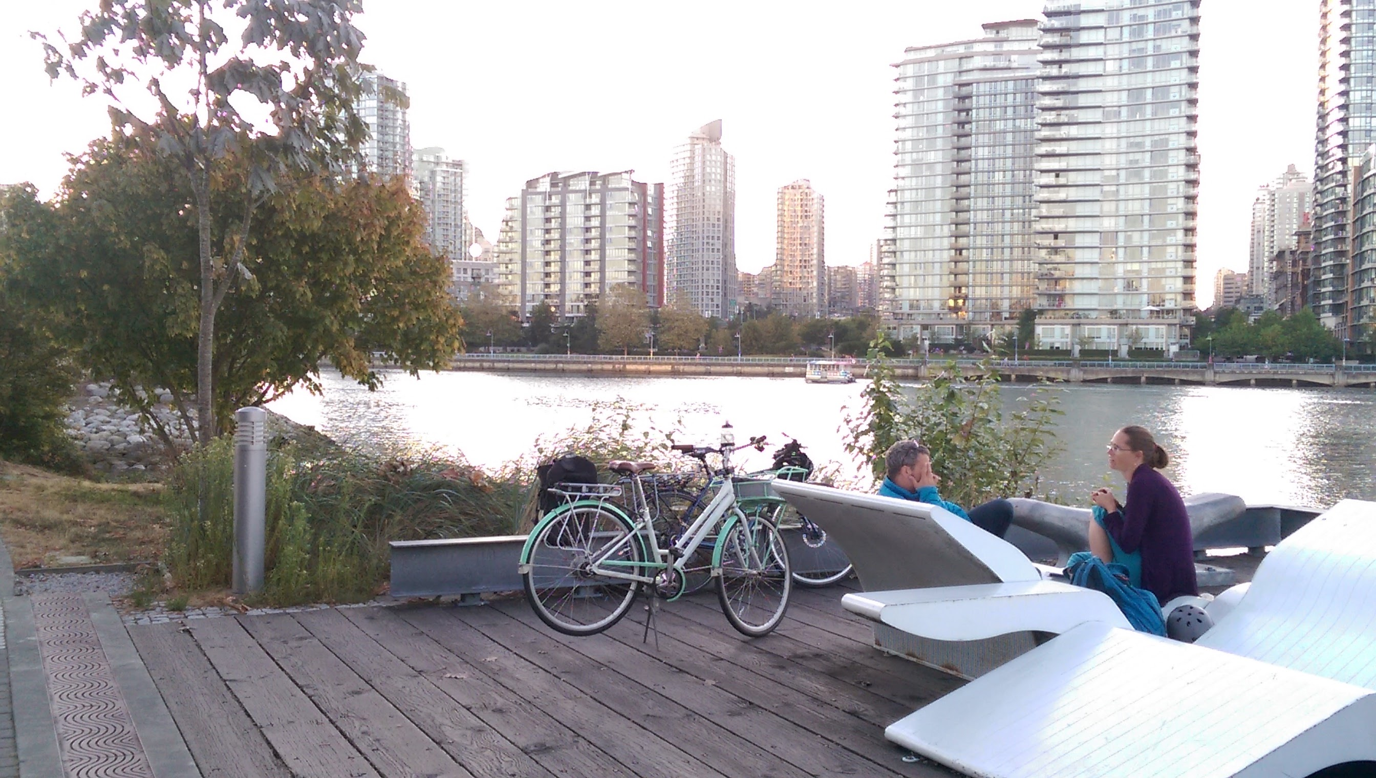False Creek biking